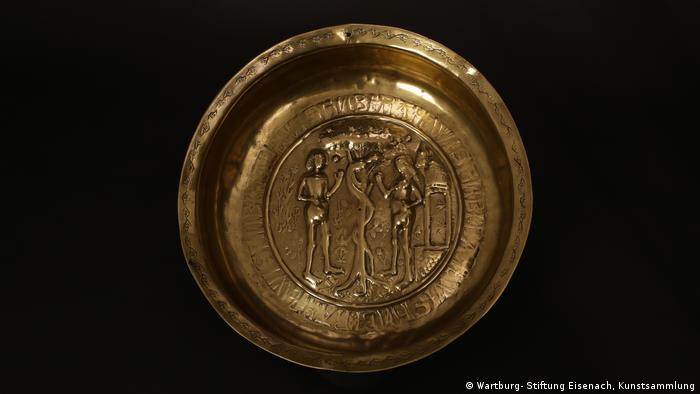 Baptismal bowl from the first half of the 16th century (Wartburg- Stiftung Eisenach, Kunstsammlung)