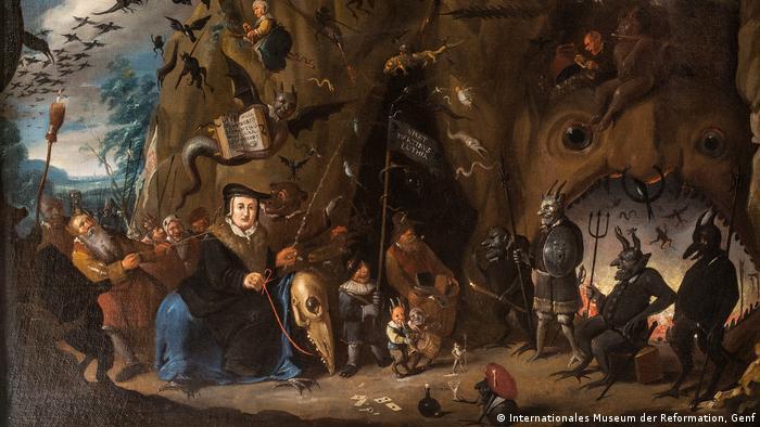 Egbert II van Heemskerck's painting Luther in Hell (International Museum of the Reformation, Genf)