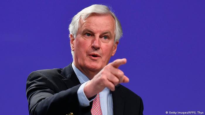 EU-Brexit-Verhandlungen PK Michel Barnier (Getty Images/AFP/J. Thys)