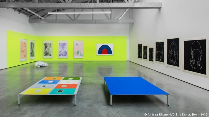 An installation by Andrea Büttner is pictured at the David Kordansky Gallery in Los Angeles