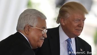 USA Mahmud Abbas & Donald Trump in Washington