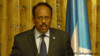 Äthiopien Mohamed Abdullahi Mohamed, Präsident Somalia (DW/Y. G/Egziabhare)