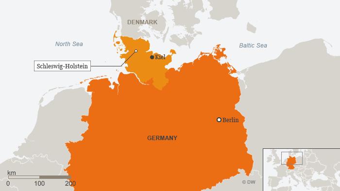 Karte Schleswig-Holstein Kiel ENG