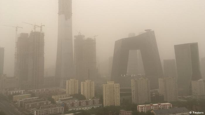 China Sandsturm in Peking (Foto: Reuters)