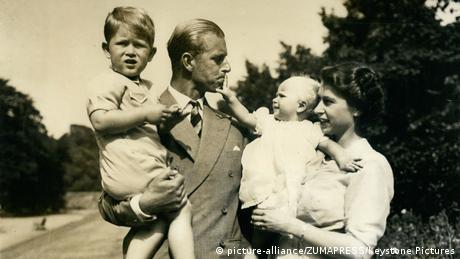 Prince Philip and children