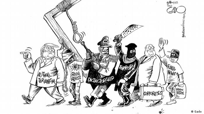 Cartoon: Press freedom around the world