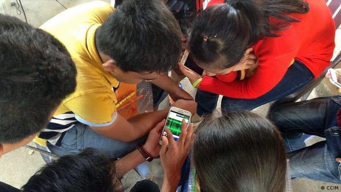 Kampodscha Medientraining von Jugendlichen