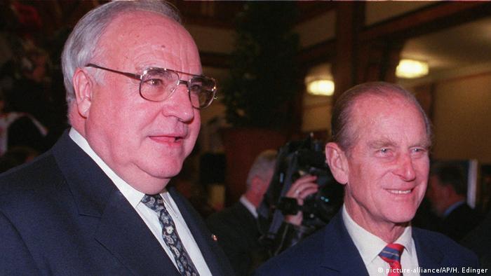 Гельмут Коль и принц Филипп