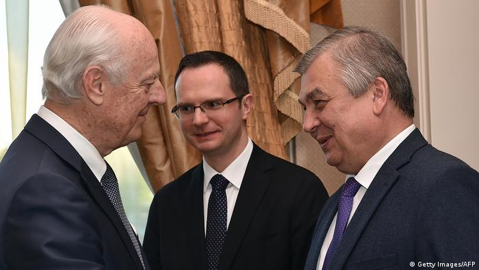 Syria peace talks in Astana | Staffan de Mistura & Alexander Lavrentiev (Getty Images/AFP)