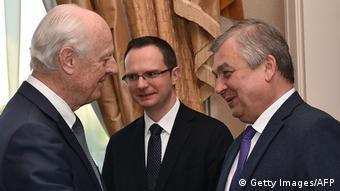 Kasachstan Syriengespräche in Astana   Staffan de Mistura & Alexander Lavrentiev