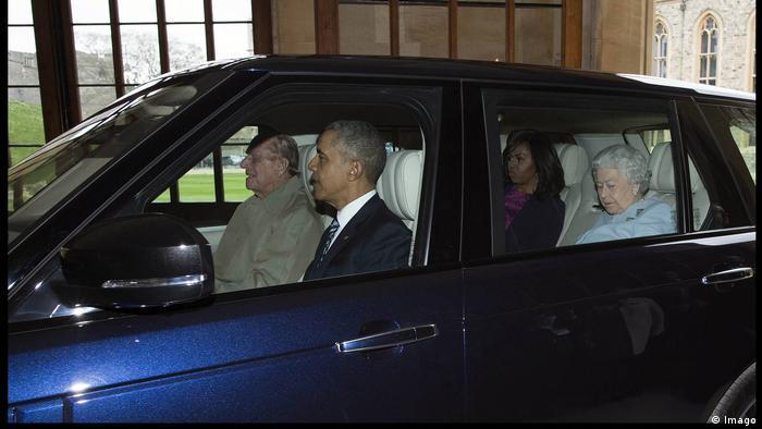 Принц Филипп, Елизавета и супруги Обама