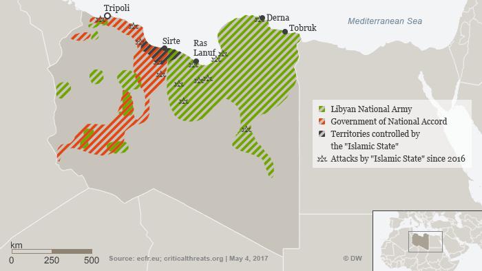 Infografik Libyen Kontrolle Gebiete NEU! ENG