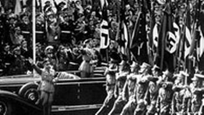 Comício nazista em Nurembergue