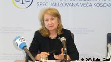 Den Haag Ekaterine Trendafilova, Vorsitzende des Spezialgerichts für Kosovo