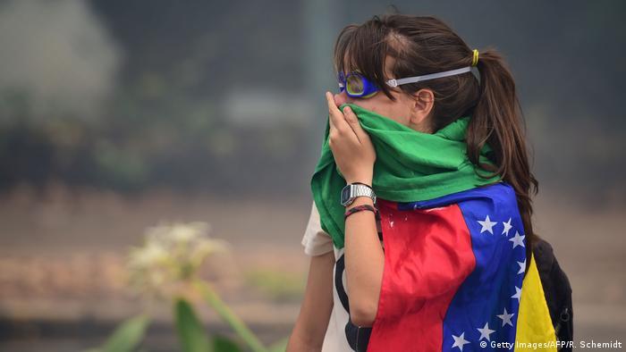 Venezuela Anti-Regierungsproteste in Caracas - Studentin