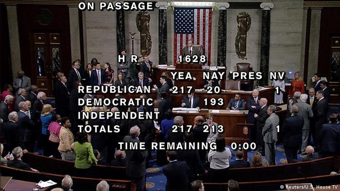 USA Abstimmung über Obamacare in Washington