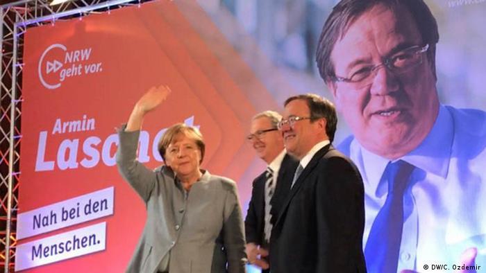 Bundeskanzlerin Angela Merkel in NRW (DW/C. Ozdemir )