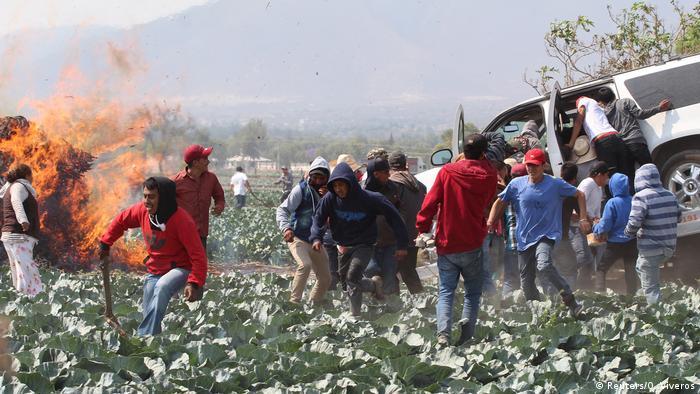Mexiko Puebla Ausschreitung (Reuters/O. Viveros)