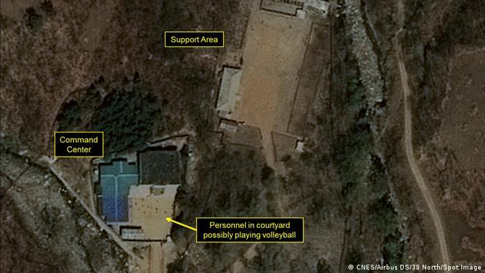Satellitenaufnahme der Testanlage Punggye-ri (Archivbild) (CNES/Airbus DS/38 North/Spot Image)