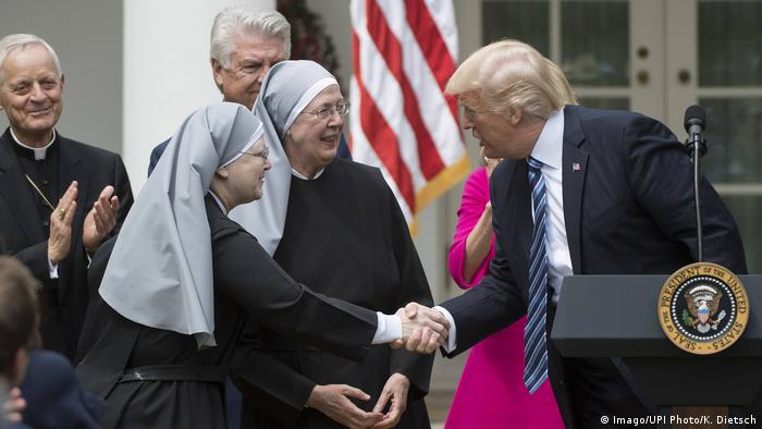 USA Washington Trump Dekrete Religion (Imago/UPI Photo/K. Dietsch)