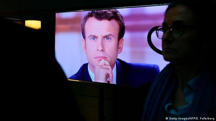 Frankreich Macron TV-Debatte (Getty Images/AFP/E. Feferberg)