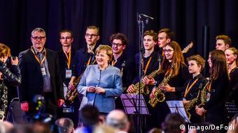 Με τους καθηγητές και μέλη της Big Band του γυμνασίου Aloisius της Βόννης