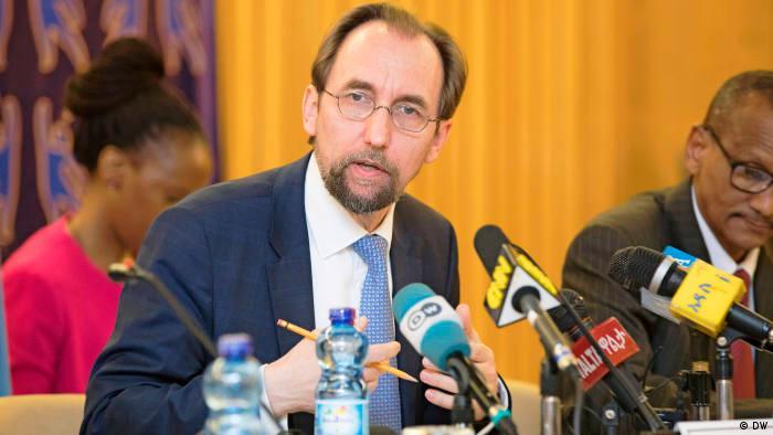 UN Human Rights Chief Seid al-Hussein speaks to Deutsche Welle (DW)