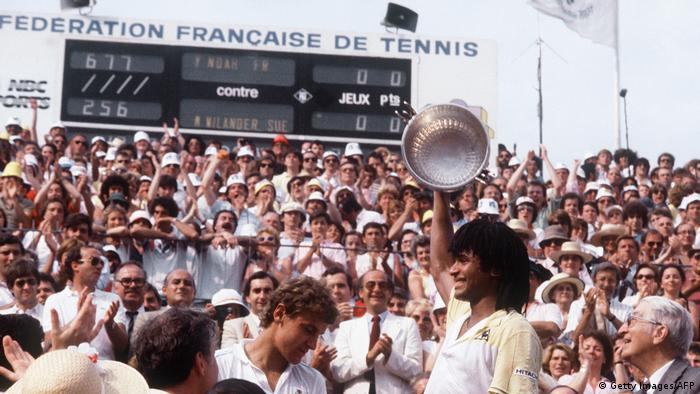 Tennis French Open Yannick Noah vs. Mats Wilander (Getty Images/AFP)