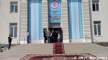 Stadthalle in der gagausischer Hauptstadt Komrat, wo der IV Weltkongress der Gagausen stattfindet. Sie wurden heute, am 05.05.2017 von unserer Korrespondentin in Moldawien Yulia Semionova gemacht.