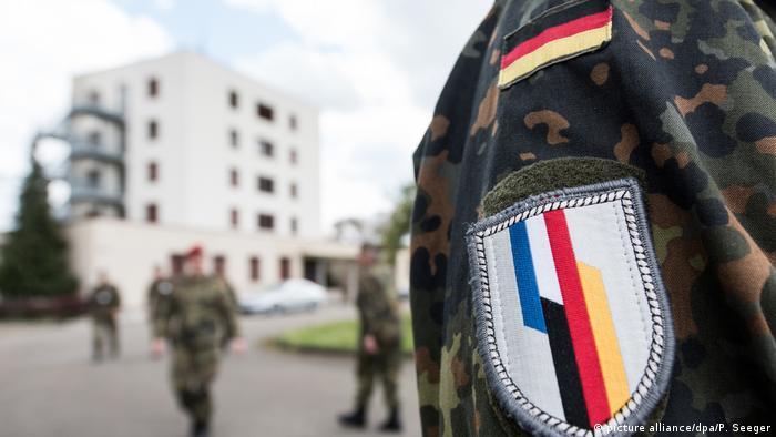 Военнослужащие франко-германской бригады