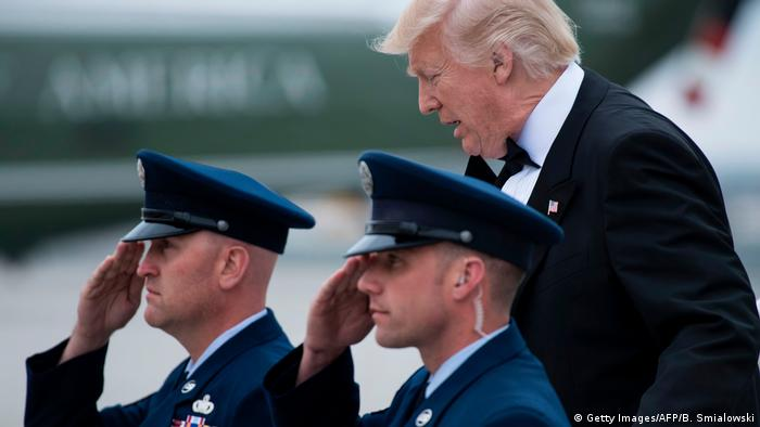 USA Donald Trump auf dem John F. Kennedy Flughafen (Getty Images/AFP/B. Smialowski)