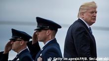 USA Donald Trump auf dem John F. Kennedy Flughafen