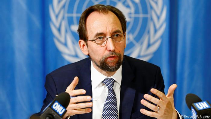 United Nations High Commissioner for Human Rights Zeid Ra'ad al-Hussein (Reuters/P. Albouy)