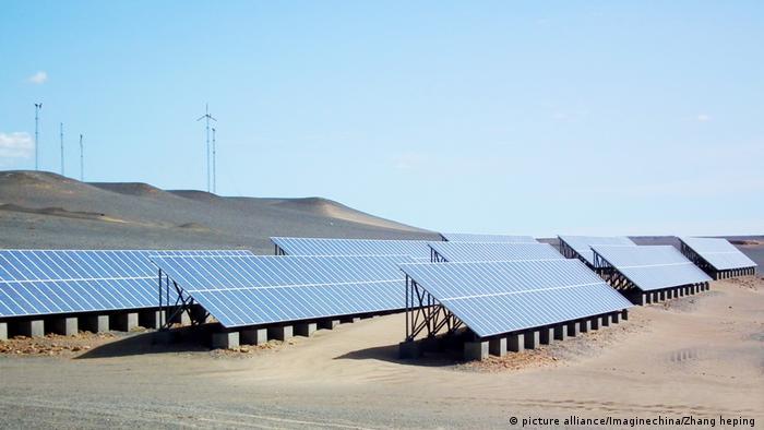China Solarprojekt Delingha Wüste Gobi