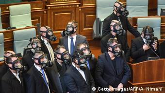 Balkan - Konflikt zwischen Kosovo und Serbien - Parlament in Pristina
