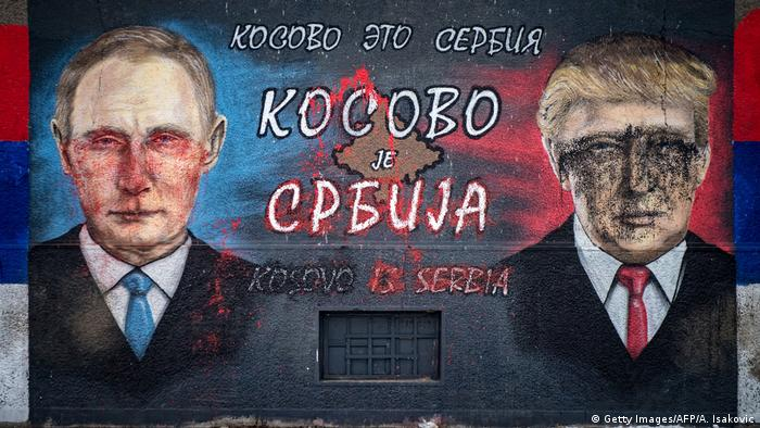 Balkan - Konflikt zwischen Kosovo und Serbien - Trump und Putin (Getty Images/AFP/A. Isakovic)
