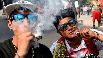 Mexio Demonstration pro Marihuana in Mexiko-Stadt