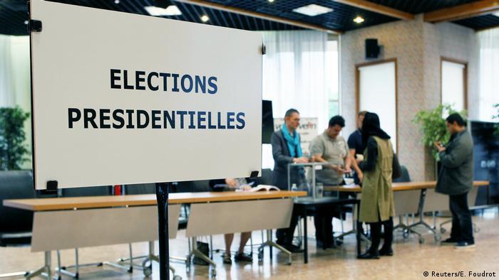 На одном из французских избирательных участков