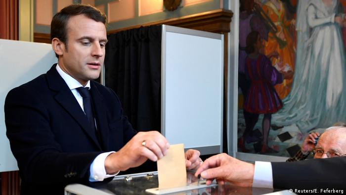 Frankreich Präsidentschaftswahl Emmanuel Macron (Reuters/E. Feferberg)