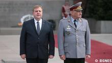 Bulgarien - Krassimir Karakachanov von der nationalistischen Partei VMRO und ein General