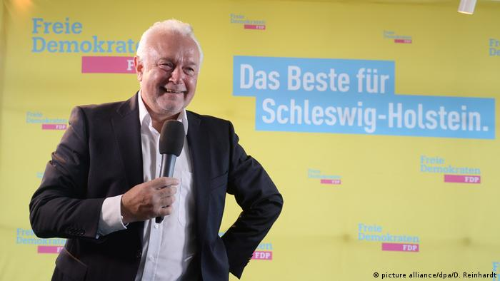 Wolfgang Kubicki at an event for a regional vote in Schleswig-Holstein (picture alliance/dpa/D. Reinhardt)