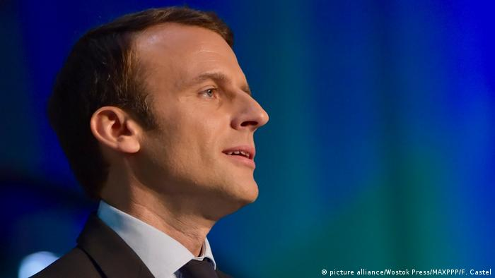 Frankreich Emmanuel Macron (picture alliance/Wostok Press/MAXPPP/F. Castel)