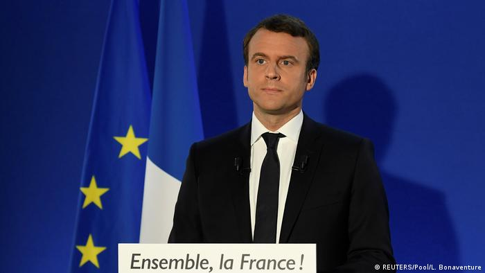 Frankreich Emmanuel Macron hält Rede nach Wahl (REUTERS/Pool/L. Bonaventure)