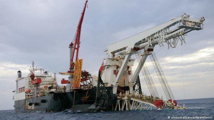 Ostsee Pipelineverlegeschiff Solitaire von Allseas