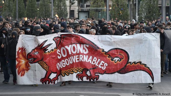 Frankreich Proteste in Nantes (Getty Images/AFP/J.-S. Evrard)