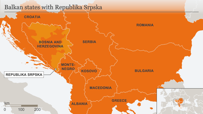 Infografik Karte Balkan states with Republika Srpska ENG