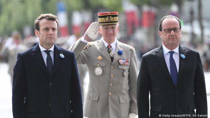 Frankreich Holland und Macorn beim Gedenken in Paris