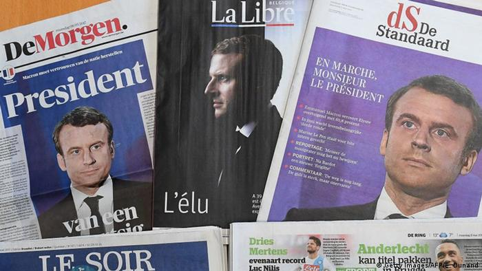 Belgien internationale Presseschau zur Frankreich Wahl (Getty Images/AFP/E. Dunand)