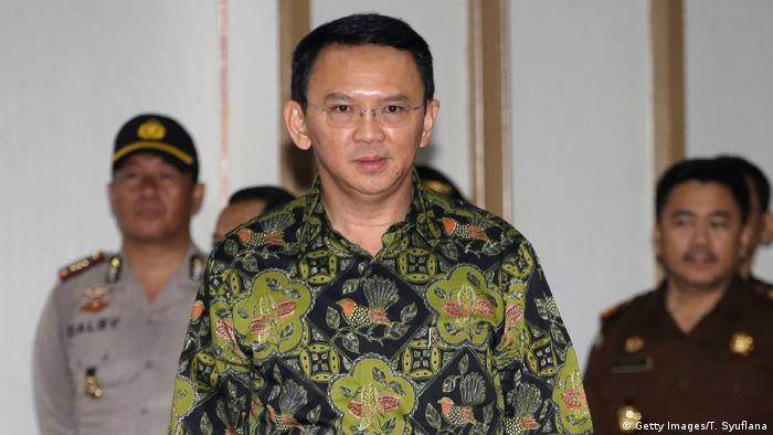 Indonsien Jakarta Gouverneur Basuki Tjahaja Purnama (Getty Images/T. Syuflana)