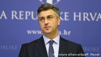 Andrej Plenkovic PK Kroatien (picture alliance/dpa/P. Macek)